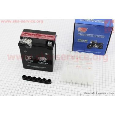Аккумулятор 7Аh МОТО UTX7L-BS кислотный (L113*W70*H130mm), 2020 [OUTDO]