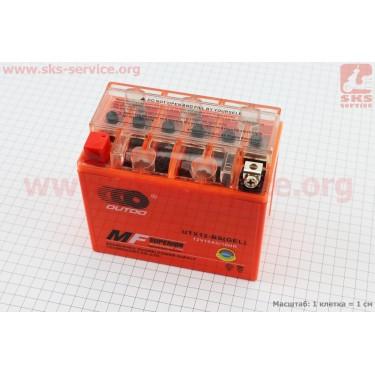 Аккумулятор 12(10)Аh UTX12-BS гелевый (L150*W87*H130mm), 2020 [OUTDO]
