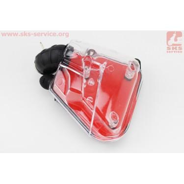 УЦЕНКА, (небольшая трещина) Фильтр воздушный в сборе Yamaha JOG 3KJ (прозрачный) [Китай]
