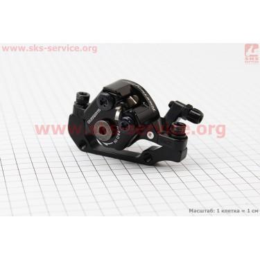 Тормозной суппорт задний (адаптер F180/R160мм), черный BR-TX805R [SHIMANO]