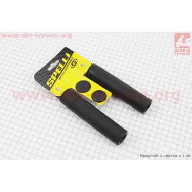 Рукоятки руля 130мм, силиконовые к-кт, черные SBG-S16180 [SPELLI]