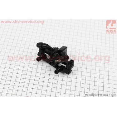 Тормозной суппорт передний (адаптер F160/R140мм), черный MDA11 [ARES]