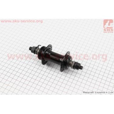 Втулка передняя МТВ 14Gx36H, под диск. тормоз (резьба), крепл. гайка, черная SF-A07F [Китай]