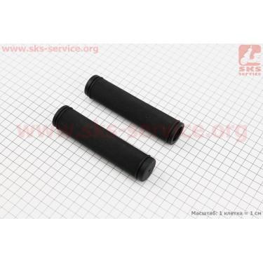 Рукоятки руля 125мм к-кт, черные VLG-311 [VELO]