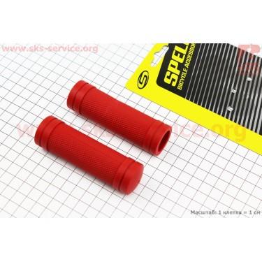 Рукоятки руля 90мм на детский велосипед к-кт, красные SBG-660S [SPELLI]