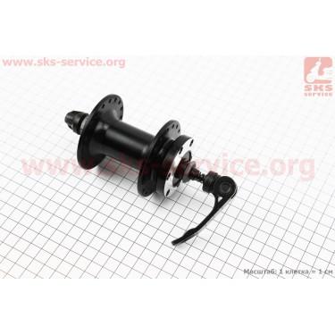 Втулка передняя MTB алюминиевая 14Gx36H под диск. тормоз, крепл. эксцентрик, черная SF-B07F [Китай]