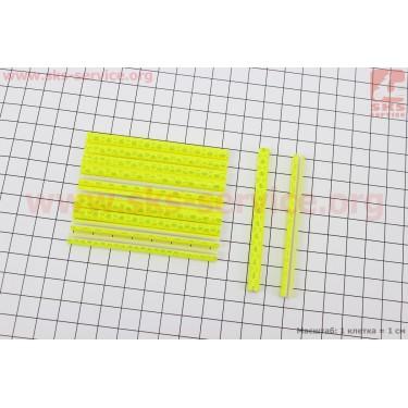 Светоотражатели на спицы 5х75мм, 12шт к-кт, желтые JY-1201 [Китай]
