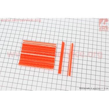 Светоотражатели на спицы 5х75мм, 12шт к-кт, оранжевые JY-1201 [Китай]