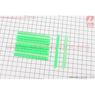 Светоотражатели на спицы 5х75мм, 12шт к-кт, салатовые JY-1201 [Китай]