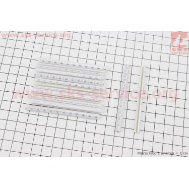 Светоотражатели на спицы 5х75мм, 12шт к-кт, серые JY-1201 [Китай]