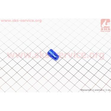 Колпачок ниппеля, алюминиевый, синий AV-08 [Китай]