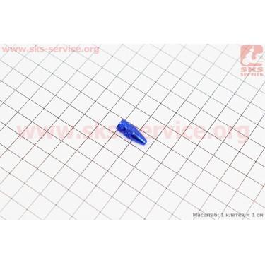 Колпачок ниппеля (Presta), алюминиевый, синий FV-01 [Китай]
