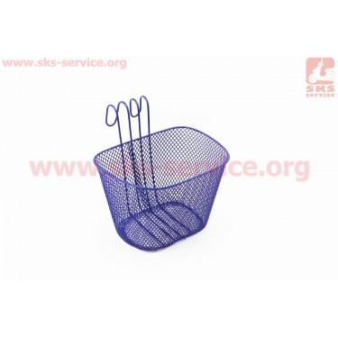 Корзина багажная передняя детская на руль, синяя [Китай]