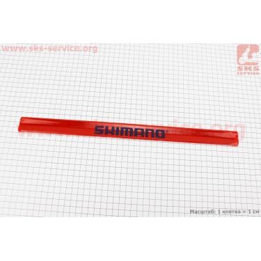 Защита штанов от попадания в цепь, светоотражающая, красная SHIMANO [Китай]