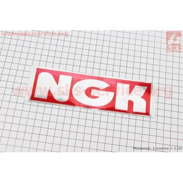 """Наклейка """"NGK"""" 17,5х5,5 [Китай]"""