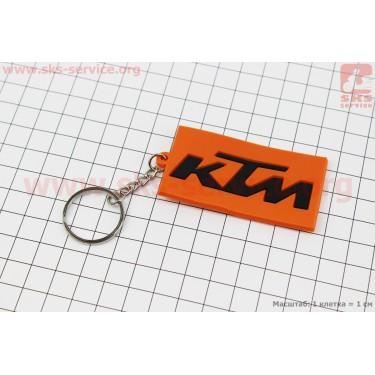 """Брелок """"KTM"""", резиновый 63х34мм [Китай]"""