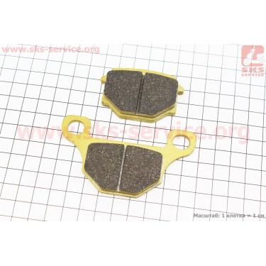 Тормозные колодки передние (диск) желтые [YONGLI]