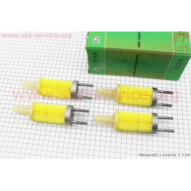 Фильтр топливный - элемент 80мм 178F к-кт 4шт [Viper]