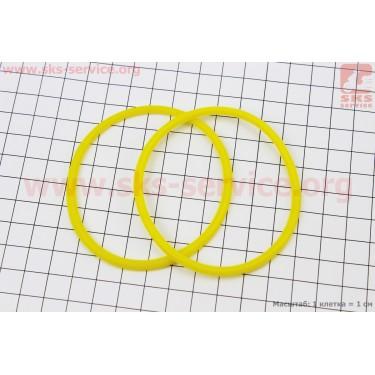 Кольцо (манжет) уплотнительное гильзы 80мм, желтое R180NM, к-кт 2шт [Китай]