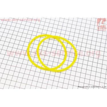 Кольцо (манжет) уплотнительное гильзы к-кт 2шт, желтые R195NM [Китай]