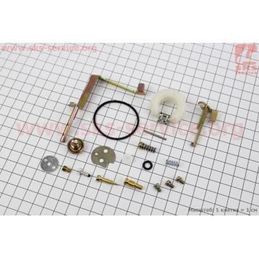 Ремонтный комплект карбюратора, 19 деталей+поплавок 0,8кВт (ET-950) [Китай]