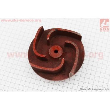 Рабочее колесо (крыльчатка) D=119mm, под вал d=20mm, 4 лопасти, чугун [Китай]