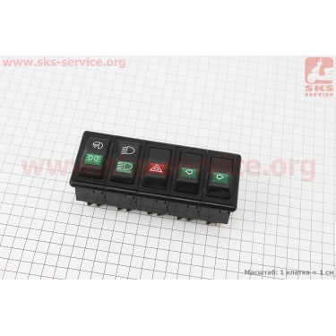 Блок переключателей в сборе DongFeng 244E [Китай]