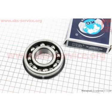 Подшипник 50307 (6307 NR) (35x80x21) с канавкой под стопорное кольцо в комплекте со стопорным кольцом, ИНДИЯ [KG]