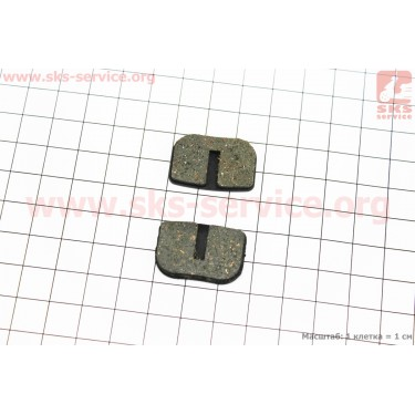Тормозные колодки диск. тормоз к-кт (Avid 79cc, Mini Bike Rear, MBX10, Motovox), YL-1003 [Andson]