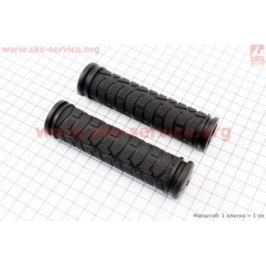 Рукоятки руля 120мм к-кт, черные FL-424 [Китай]