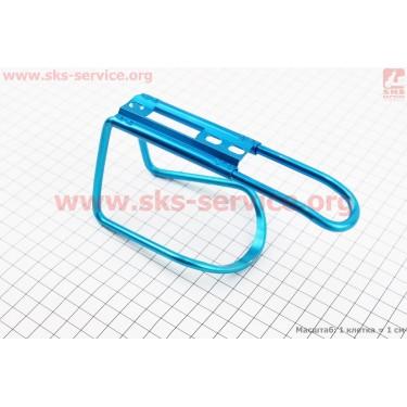 Флягодержатель алюминиевый, крепл. на раму, синий [Китай]