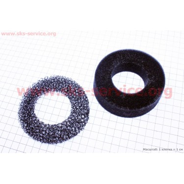 Фильтр воздушный - элемент (поролон круглый) 173F/177F/182F/188F/190F [Китай]
