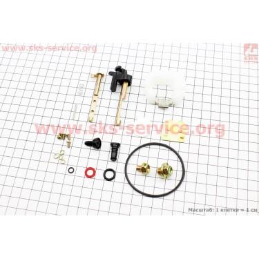Ремонтный комплект карбюратора 173F/177F/182F/188F/190F, 22 детали+поплавок [Китай]