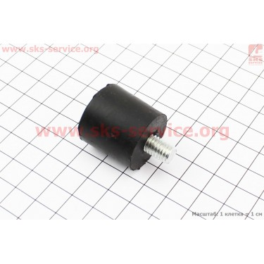 Амортизатор + шпилька 8мм 0,8кВт