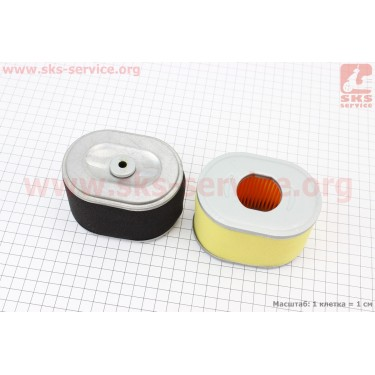 Фильтр воздушный - элемент (бумажный) 168F/170F [Китай]
