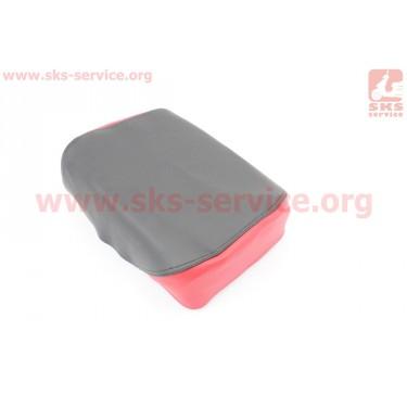 Чехол сидения заднего узкого, 210мм (эластичный, прочный материал) черный/красный