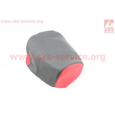 Чехол сидения переднего (эластичный, прочный материал) черный/красный