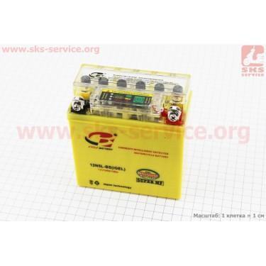 Аккумулятор 5Аh 12N5L-BS (гелевый, желтый) Active 120/60/130мм с ИНДИКАТОРОМ, 2018 (завод OUTDO) [B-cycle]