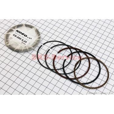 Кольца поршневые 200cc 63,5мм +0,25 [KOSO]