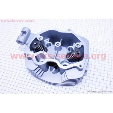 Головка цилиндра 125cc-56,5mm + клапана к-кт [Китай]