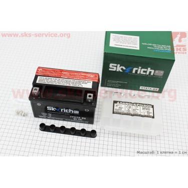 Аккумулятор 7Аh YTX7A-BS (кислотный сухой) 150/85/95мм, 2016, от 6шт -3% [Skyrich]