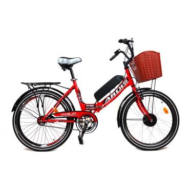 Электровелосипед складной FOLD 350Вт 10Ач с LCD пультом управления красный