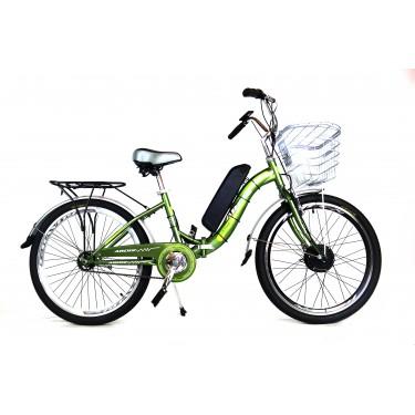 Электровелосипед A23 складной FOLD 350Вт 10Ач зеленый