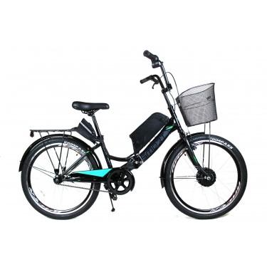 Электровелосипед складной Formula SMART черный 24 колесо 36В 350Вт 10Ач литий ионный аккумулятор