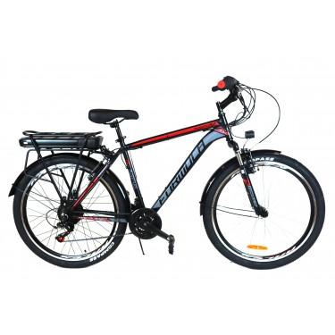 Электровелосипед A4 Magnum 350Вт с пультом управления двойной багажник