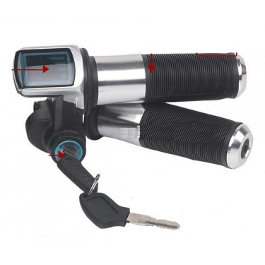 Ручка газа FARAD скутерная 36V c LCD индикацией и замком зажигания