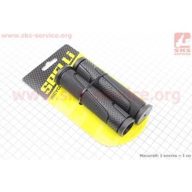 Рукоятки руля 125мм к-кт, черные SBG-6708L [SPELLI]