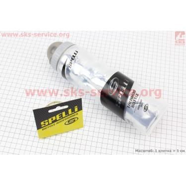 Фляга-термо пластиковая 500мл, с защитной крышкой, прозрачно-черная SWB-700