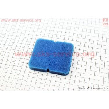 Фильтр-элемент воздушный  с пропиткой (поролон), синий (Delta)
