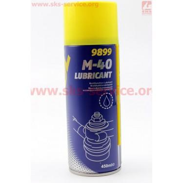 M40 - Проникающая смазка (аналог WD-40) Аэрозоль 450ml [MANNOL]